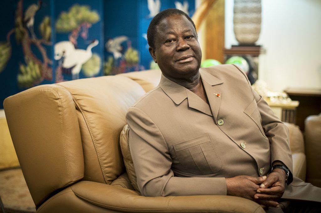 Henri Konan Bédié, le patron du PDCI, à son domicile, à Daoukro.