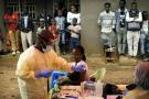 Lors d'une campagne de vaccination contre Ebola, le 13 juillet 2019 à Beni.