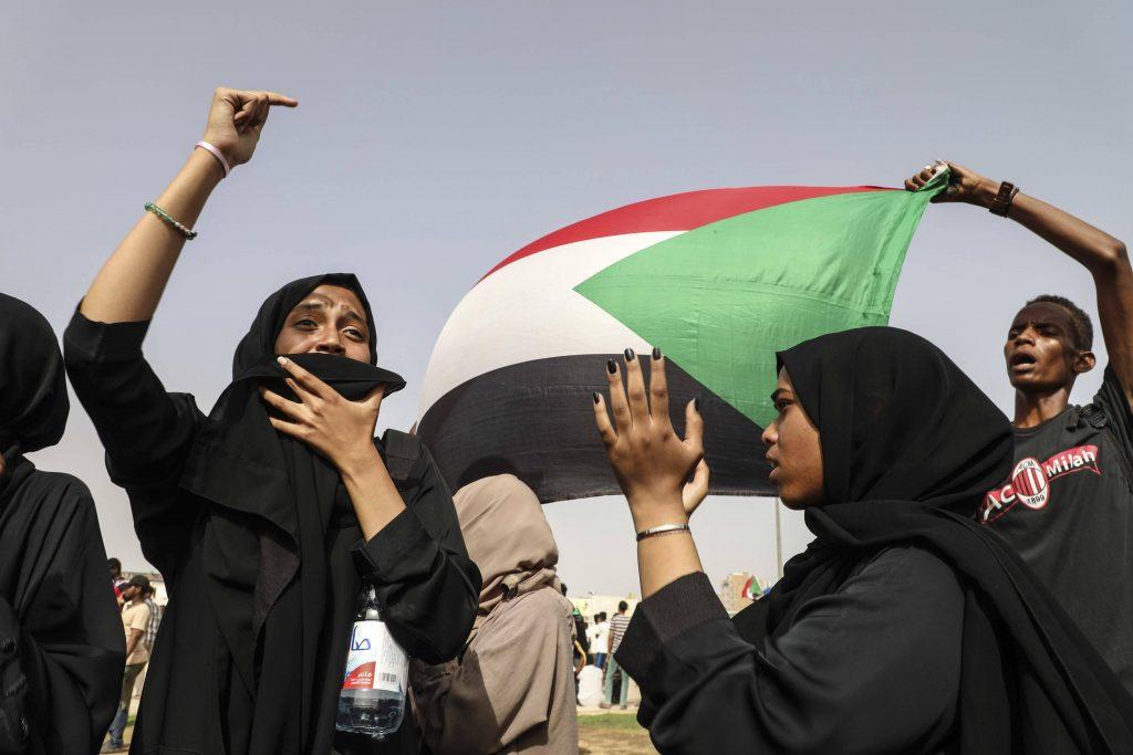 Des manifestantes à Khartoum, le 18 juillet 2019.
