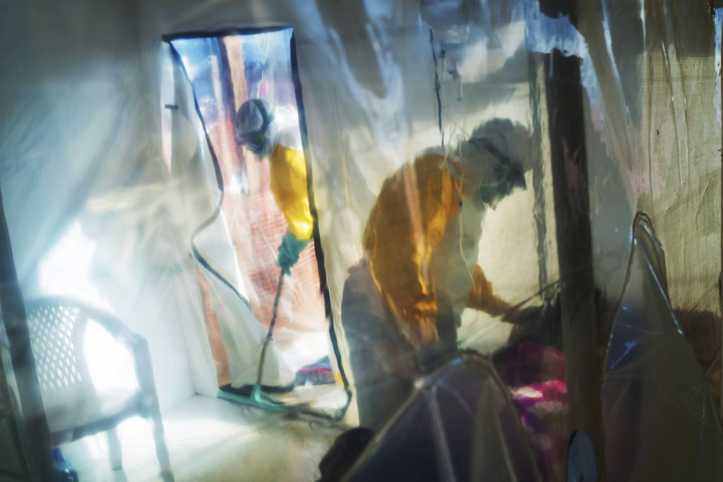 Dans un centre de traitement d'Ebola, à Beni, le 13 juillet 2019.