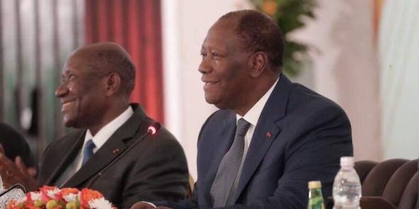 Alassane Ouattara au deuxième conseil politique du RHDP, le lundi 22 juillet 2019.