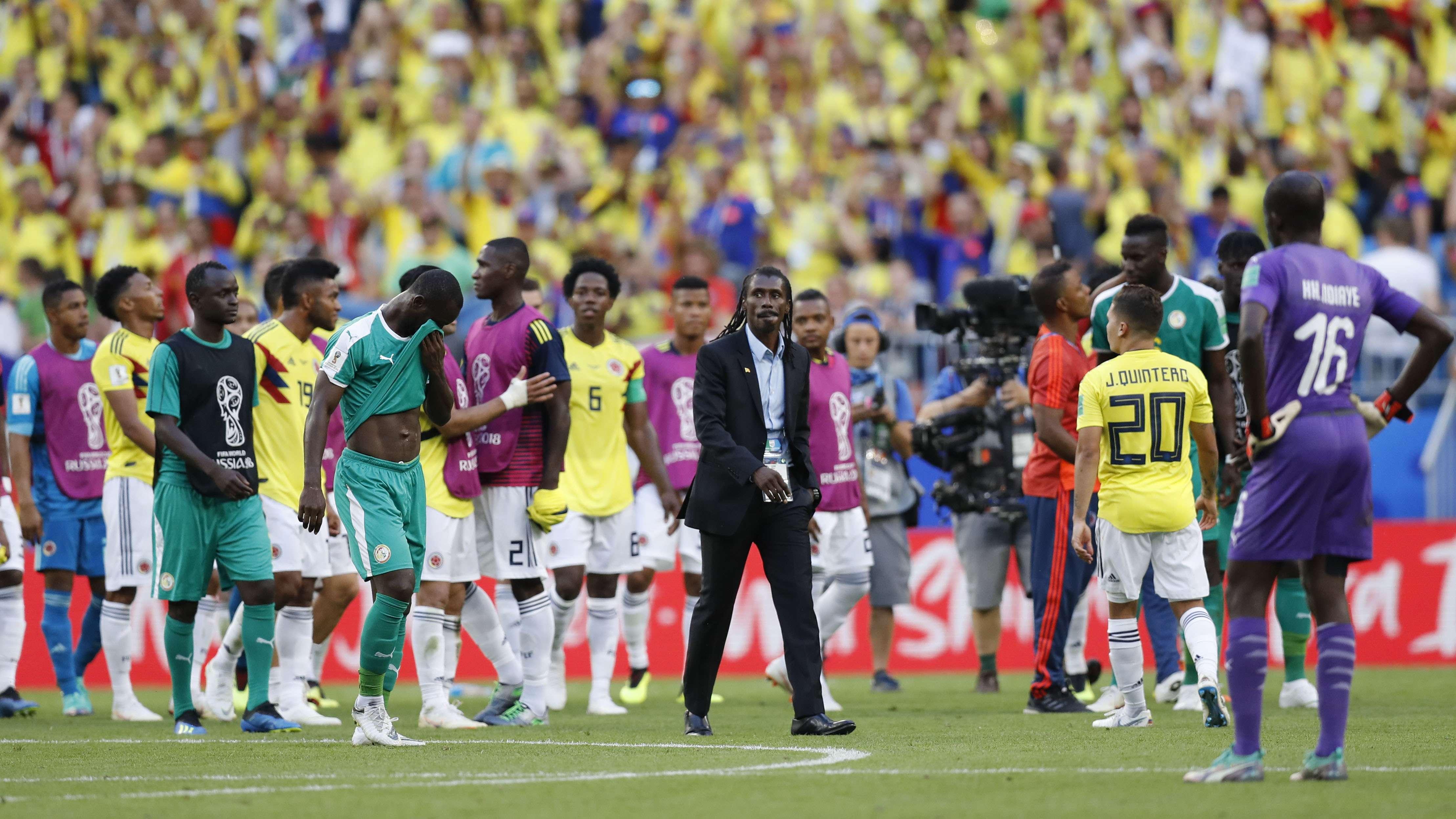 Aliou Cissé, ici lors du Mondial 2018 en Russie, est le sélectionneur africain avec le plus d'ancienneté (4 ans).
