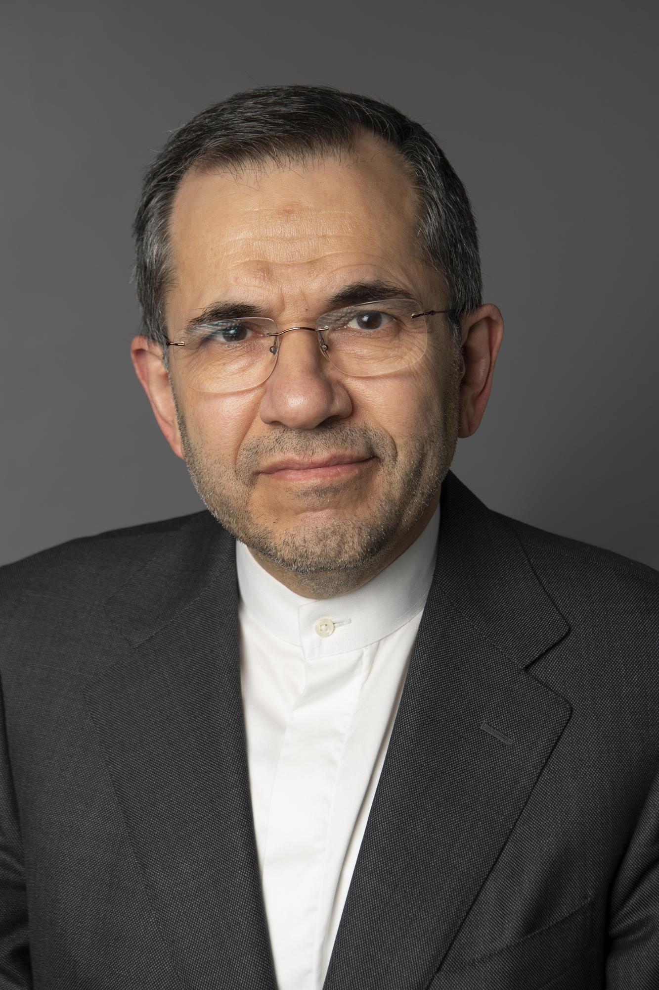 Majid Takht Ravanchi, ambassadeur d'Iran aux Nations unies.