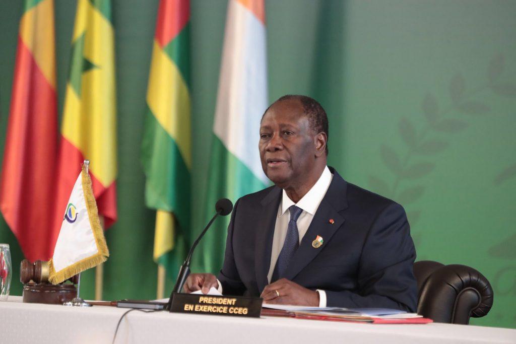 Allocution d'Alassane Ouattara lors du sommet des chefs d'État de l'UEMOA, le 12 juillet 2019.