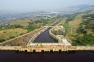 Le barrage Inga 1, à 350 km à l'ouest de Kinshasa, en République démocratique du Congo, le 26 juin 2016.