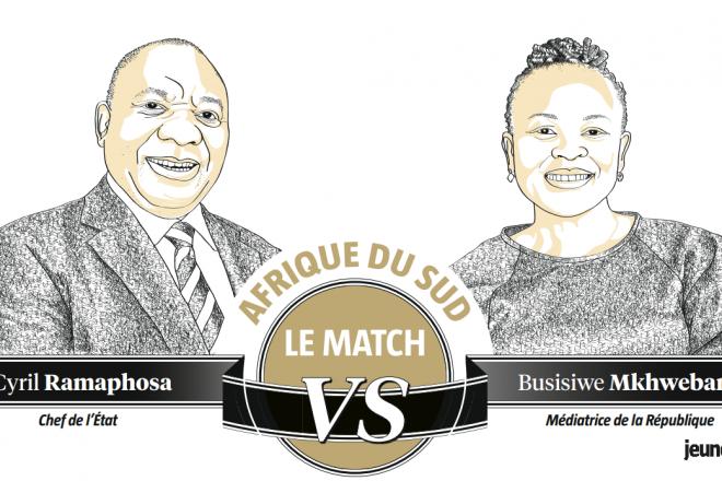 Afrique du Sud : entre Cyril Ramaphosa et Busisiwe Mkhwebane, une lutte sans merci