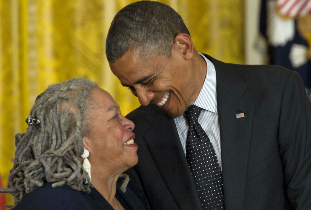 Toni Morrison et Barack Obama le 29 mai 2012 à Washington.