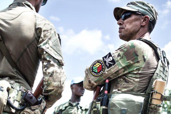 Berengo, 2018: employés de la société russe Sewa Security Services, chargée de la protection du président centrafricain.