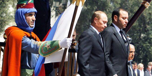 Vladimir Poutine reçu par Mohammed VI à Casablanca, en 2006.