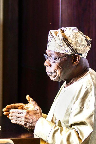 Olusegun Obasanjo à Durban, en Afrique du Sud, le 26mars 2019.