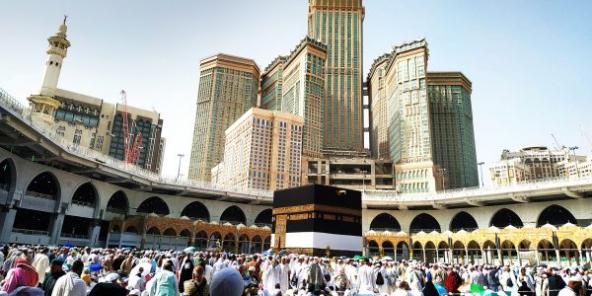 La Kaaba, à La Mecque.