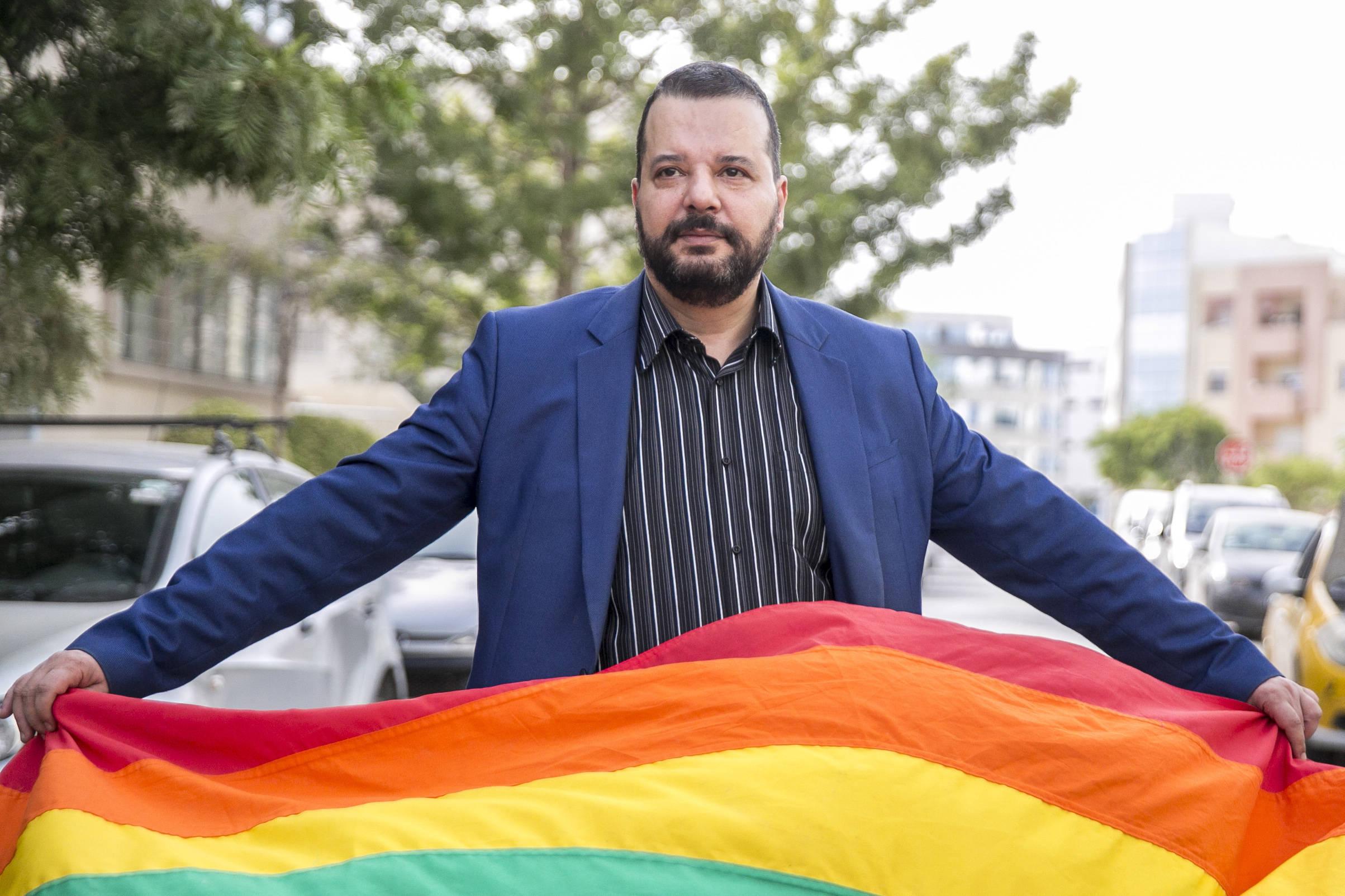 Mounir Baatour, candidat LGBT à l'élection présidentielle tunisienne.