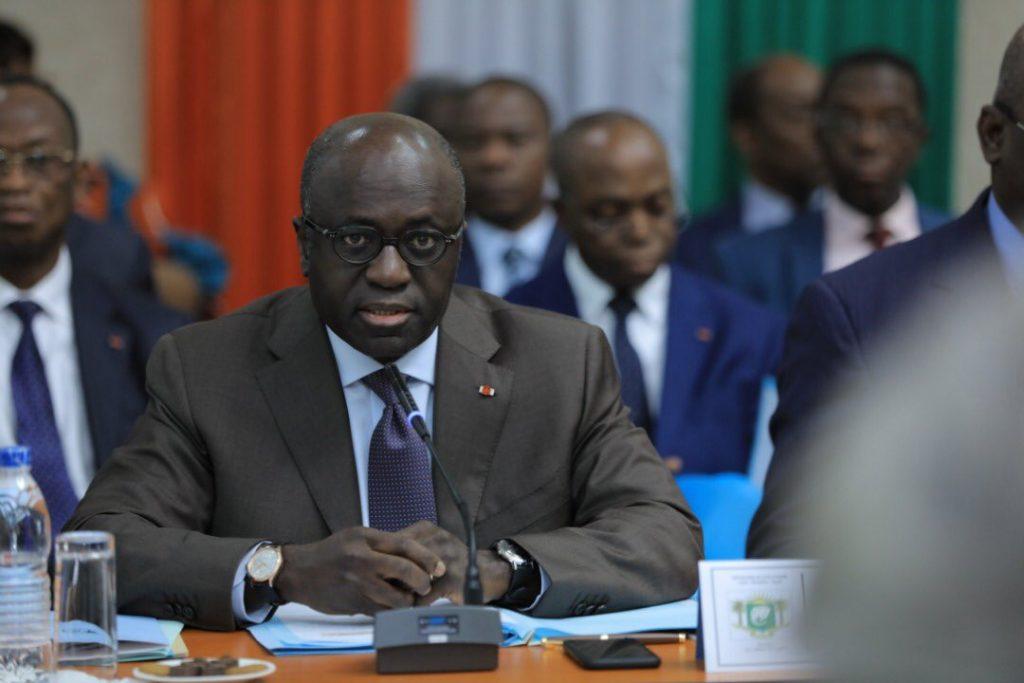 Marcel Amon Tanoh, en juin 2019, lors d'une rencontre avec l'Union européenne, à Abidjan.
