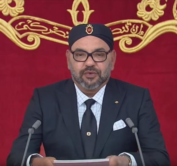 Le roi Mohammed VI le 20 août 2019, à l'occasion du 66e anniversaire de la Révolution du roi et du peuple.