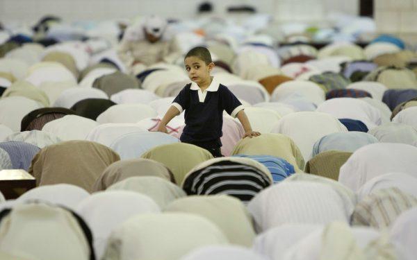 Moment de la prière à Riyad, la capitale de l'Arabie saoudite.