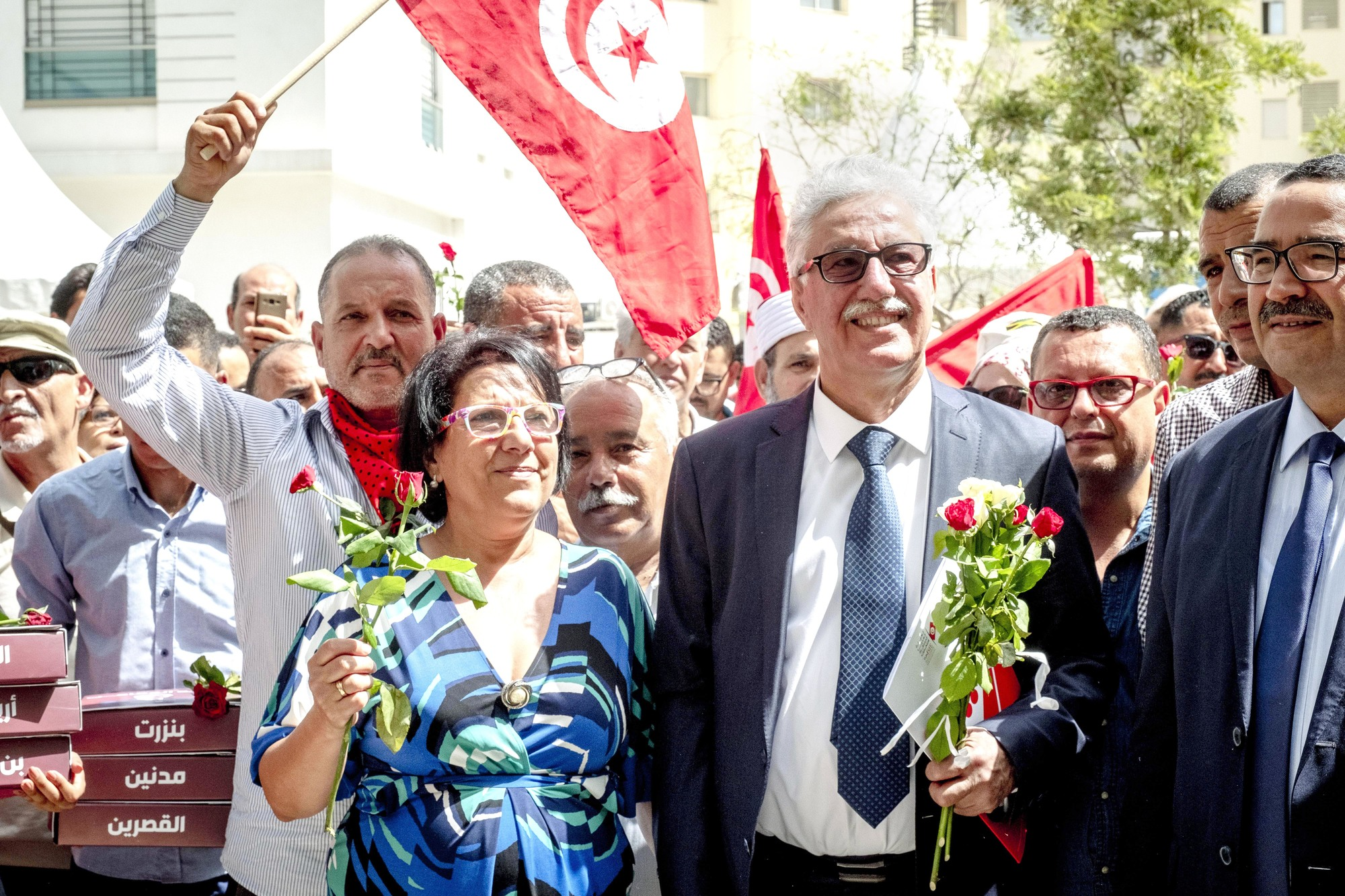 7 aout 2019 : dépot de candidature pour les élections présidentielles de Hamma Hammami