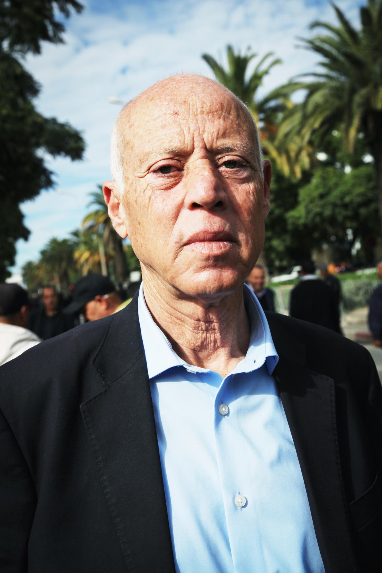 Kaïs Saïed, le 22 novembre 2018 à Tunis (image d'illustration).