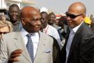 Abdoulaye Wade (g.) et son fils Karim