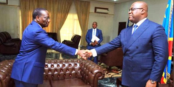 le Premier ministre congolais, Sylvestre Ilunga, avec le président Félix Tshisekedi (illustration).