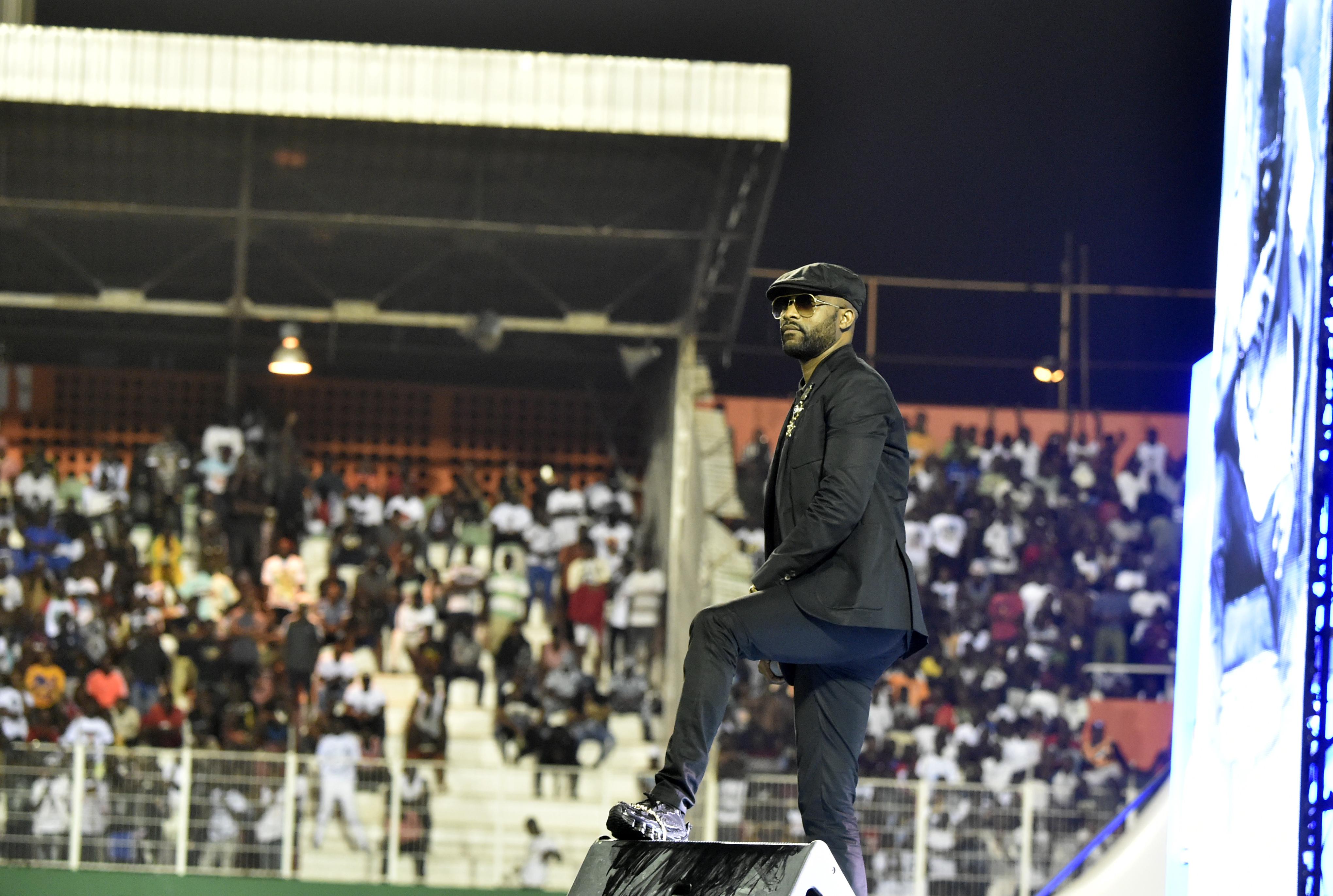 L'artiste Fally Ipupa, le 31 août au stade Félix Houphouët-Boigny, à Abidjan