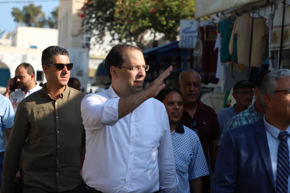 Le candidat Youssef Chahed en campagne pour l'élection présidentielle du 15 septembre 2019.