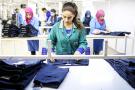 Atelier de fabrication de la société textile Sartex à Monastir
