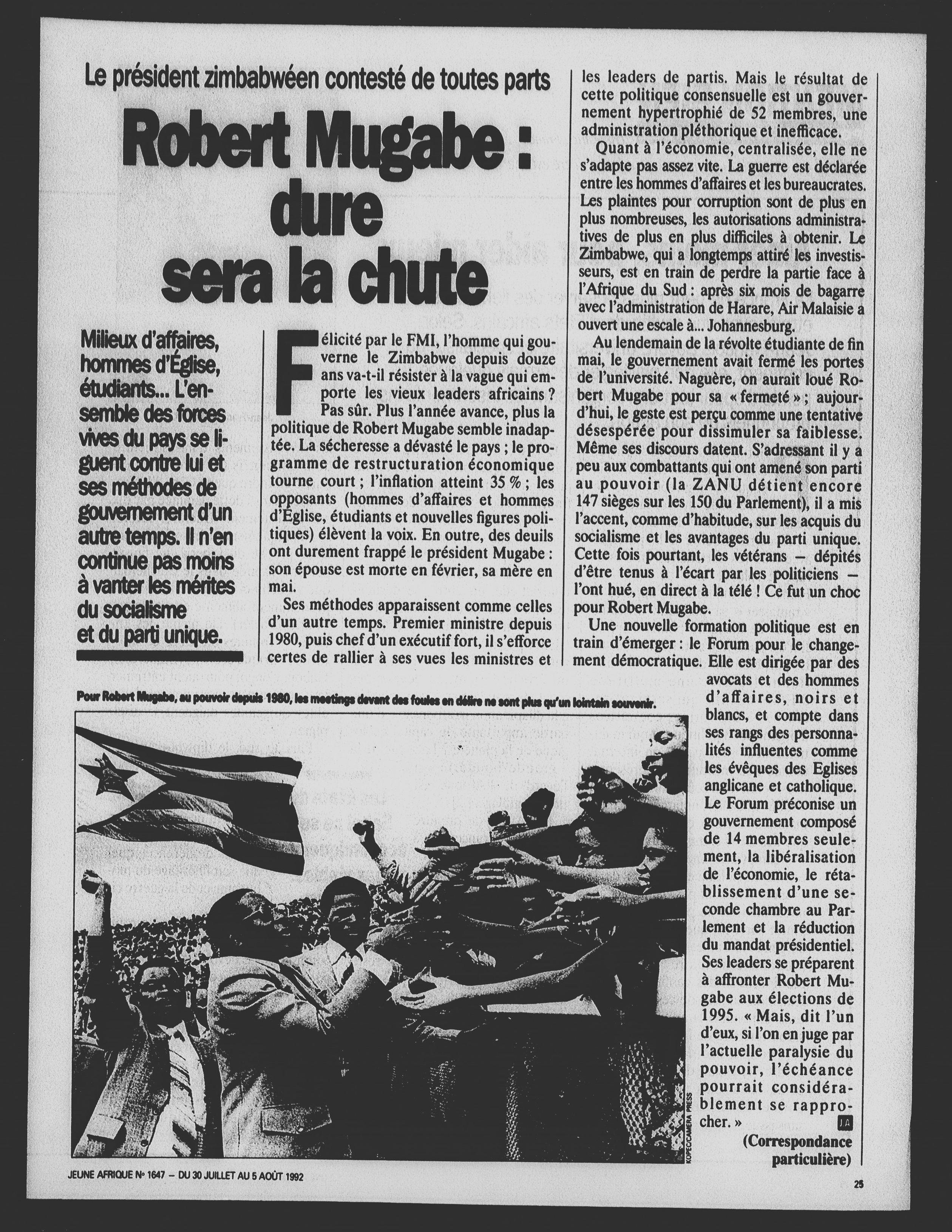 Article daté du 30 juillet 1992