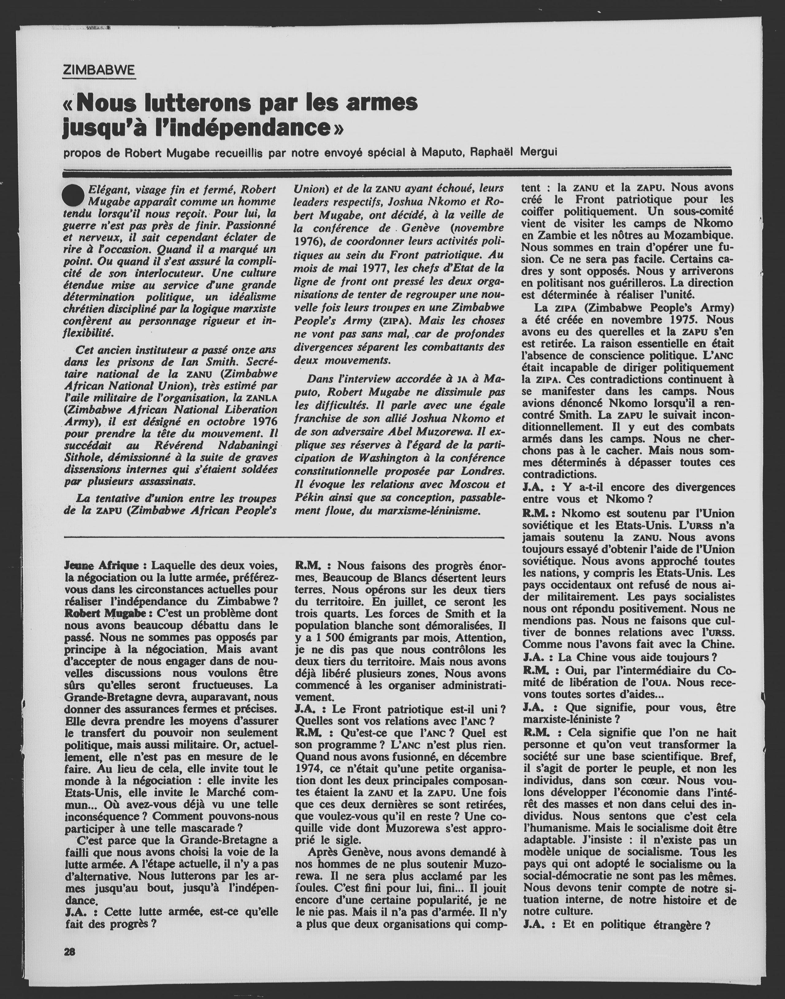 Article du 17 juin 1977