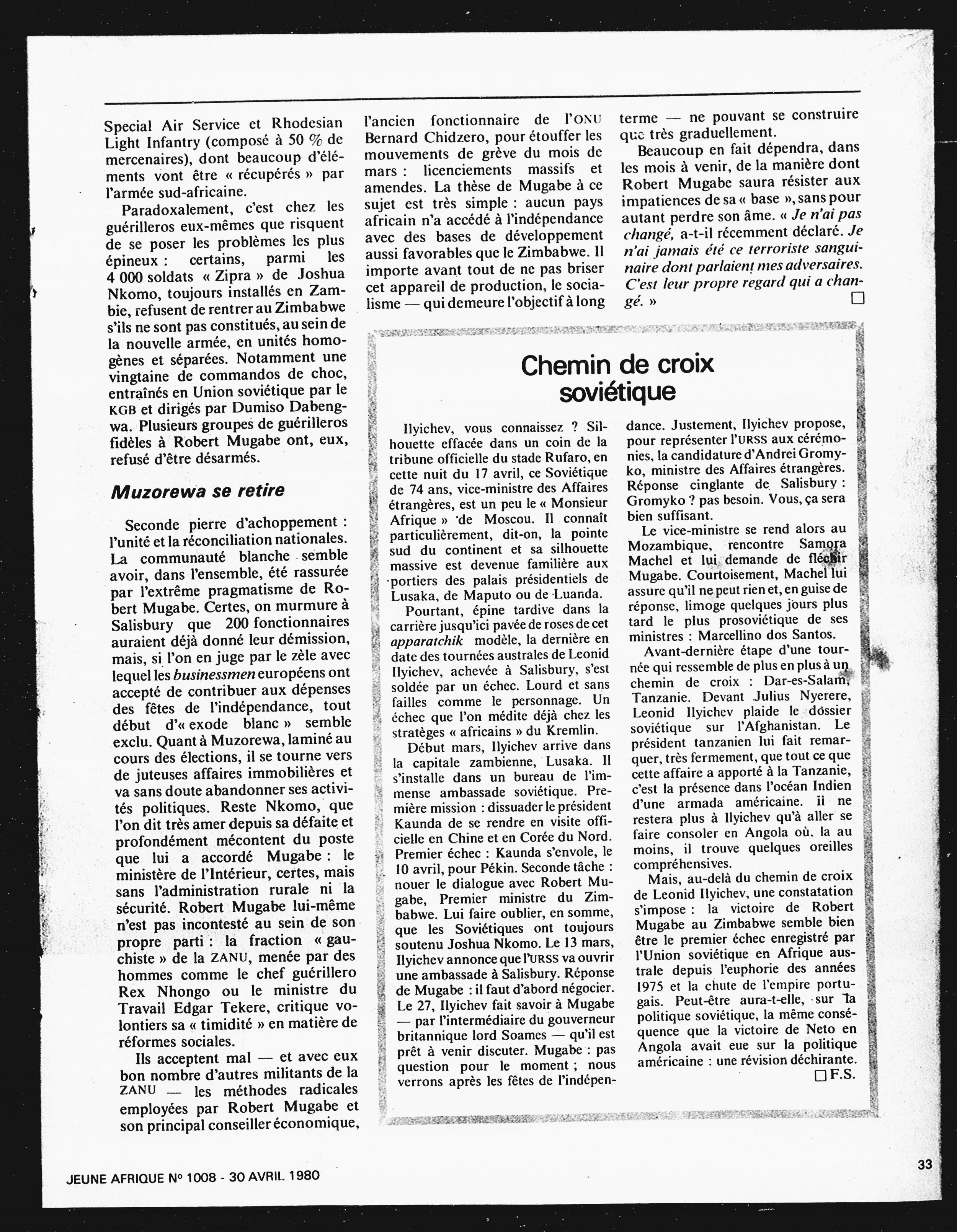 Article daté du 30 avril 1980