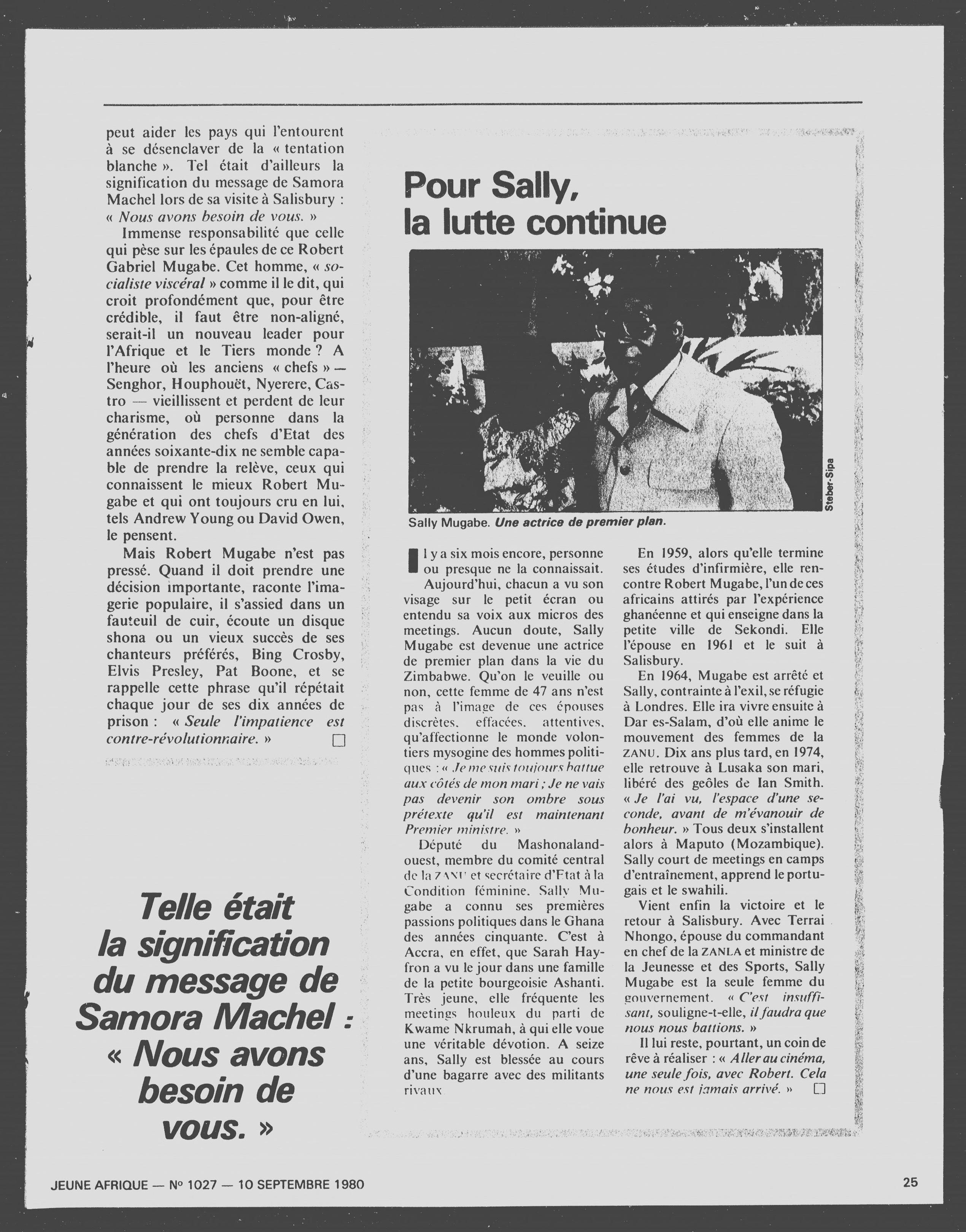 Article daté du 10 septembre 1980