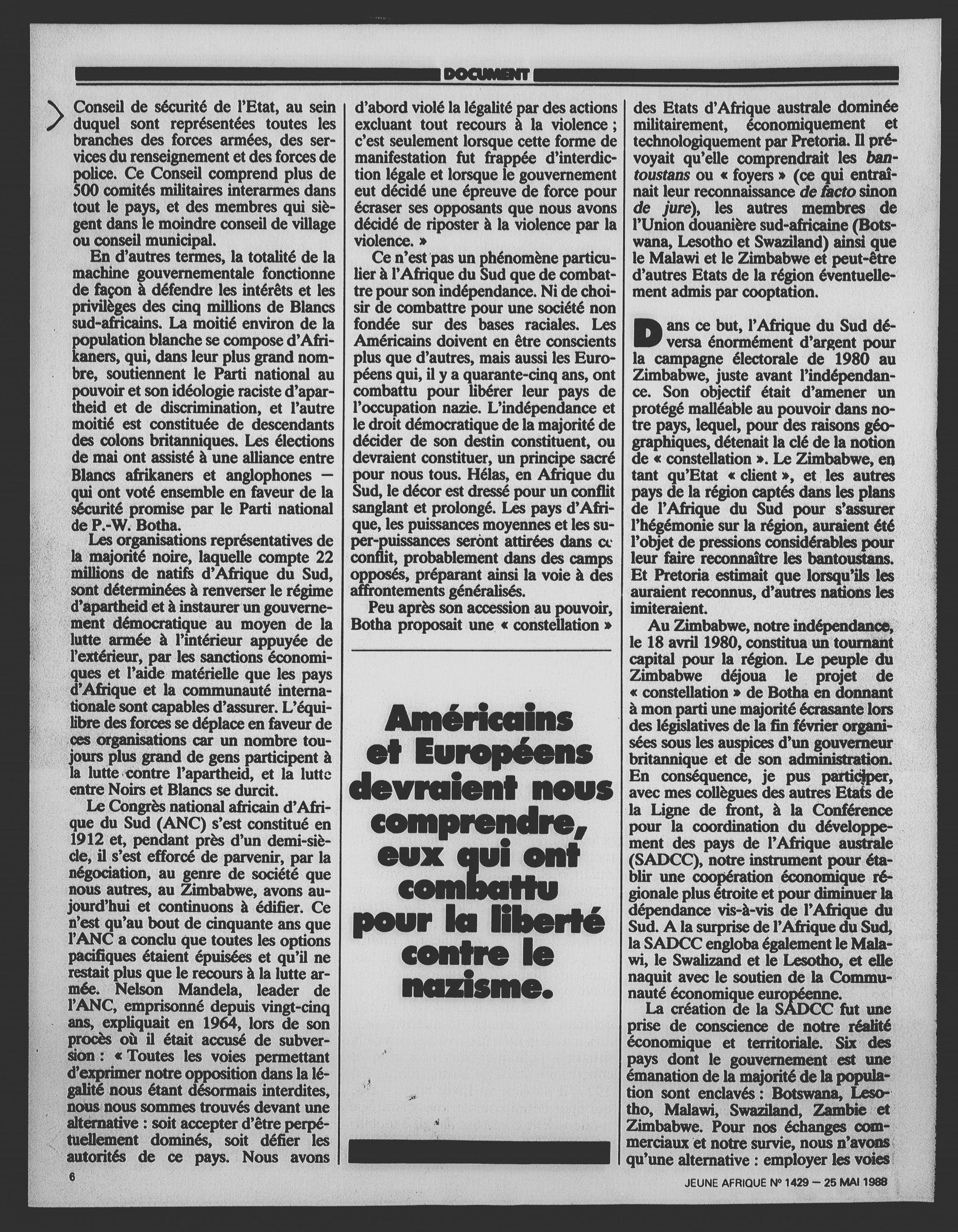 Article daté du 25 mai 1988