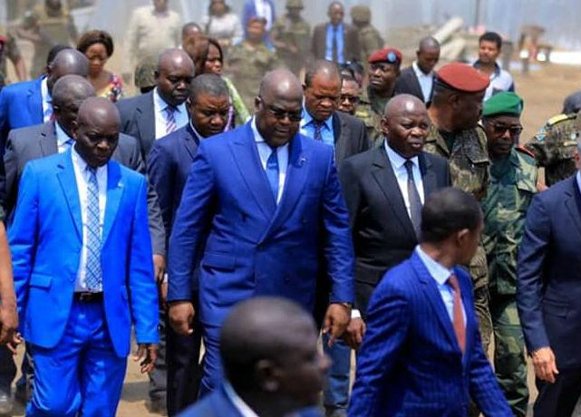 Le président congolais, Félix Tshisekedi, et son directeur de cabinet, Vital Kamerhe, lors d'une visite officielle le 2 septembre 2019.