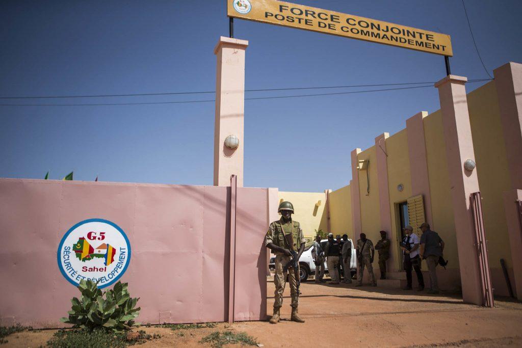 Quartier général de la force conjointe G5 Sahel basée à Sévaré, en octobre 2017.
