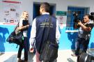 Des observateurs de l'Union européenne visitant un bureau de vote à Tunis lors des municipales de 2018 (image d'illustration).