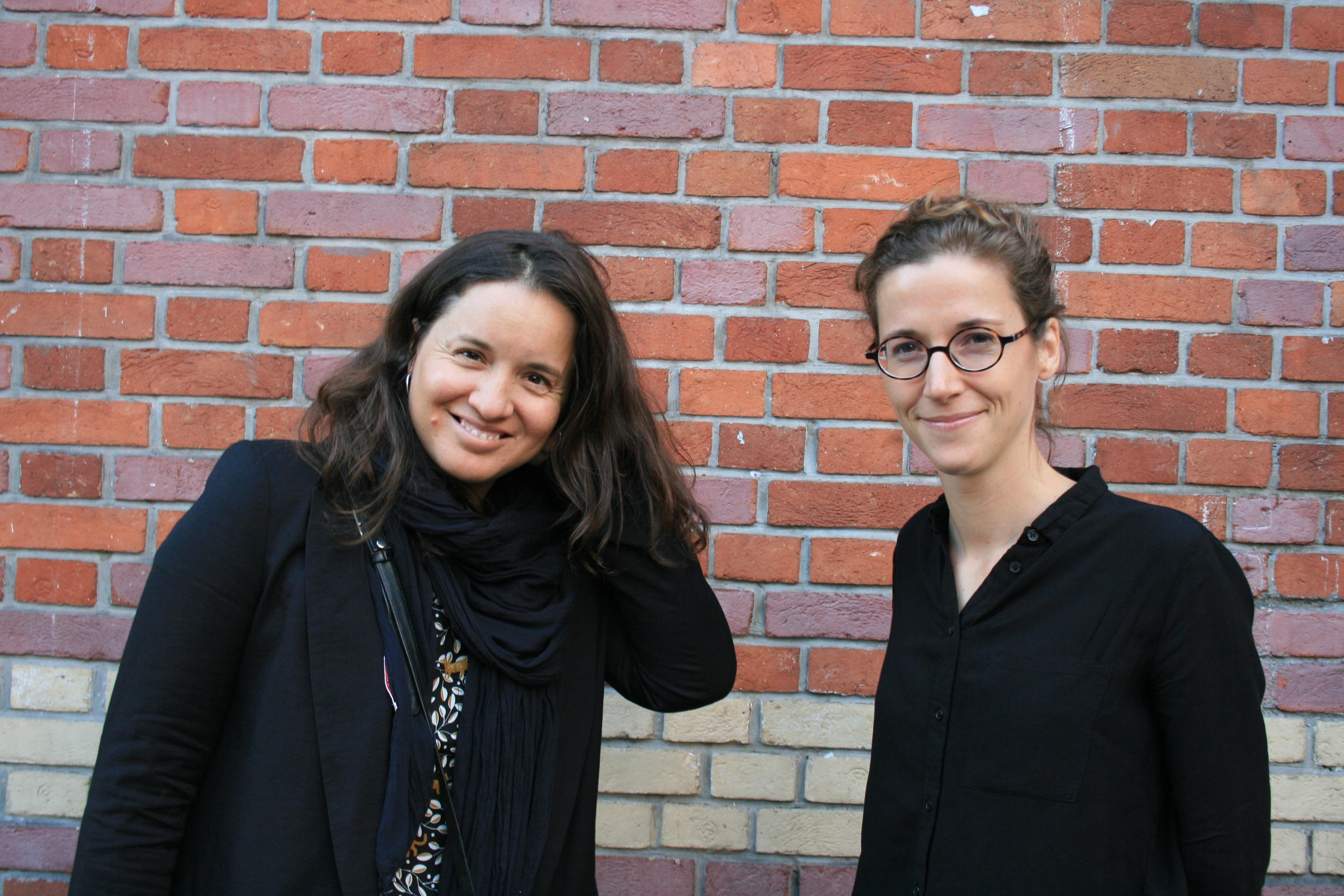 Leïla Miñano (gauche) et Justine Brabant (droite) à Paris, le 11 septembre 2019.