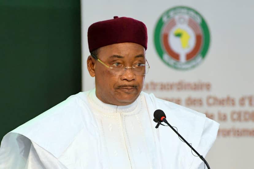 Le président Mahamadou Issoufou, lors du sommet de la Cedeao à Ouagadougou, le 14 septembre 2019.