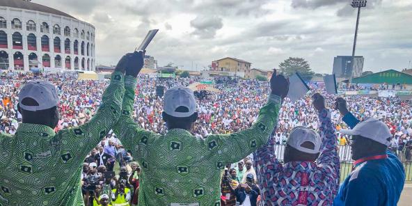 Plusieurs milliers de personnes étaient présentes au meeting commun FPI-PDCI, samedi 14 septembre 2019 à Abidjan.