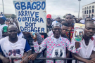 Des partisans de Laurent Gbagbo, lors du meeting commun FPI-PDCI, le 14 septembre 2019 à Abidjan.