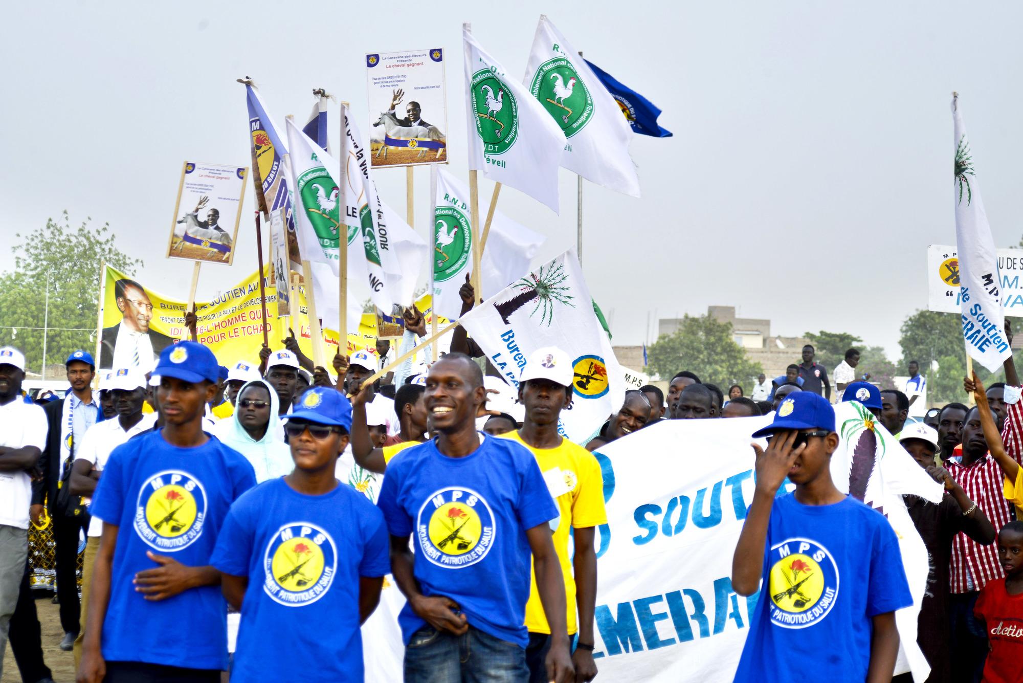 Membres du bureau des jeunes du MPS du 2earrondissement de N'Djamena.