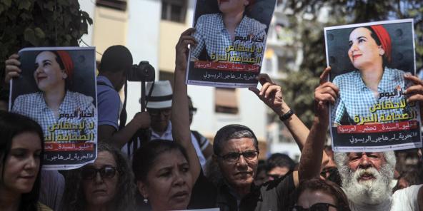 Des Marocains se sont mobilisés pour soutenir Hajar Raïssouni, lundi 9 septembre 2019 à Rabat (image d'illustration).
