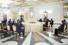 Félix Tshisekedi, João Lourenço, Paul Kagame et Yoweri Museveni au sommet de Luanda, le 12juillet.