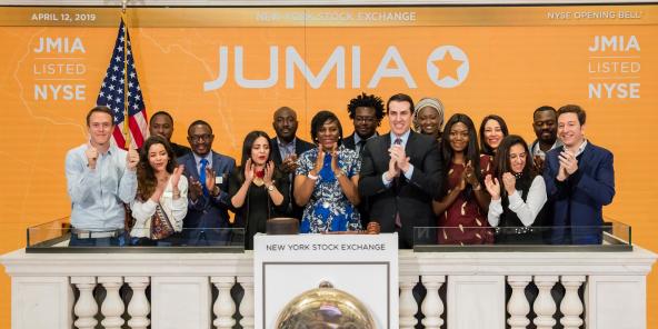 Jumia IPO, New York, den 12. Abrëll 2019.