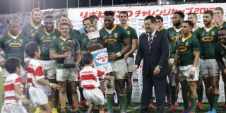 Des joueurs sud-africains de rugby au Japon, le 6 septembre 2019.