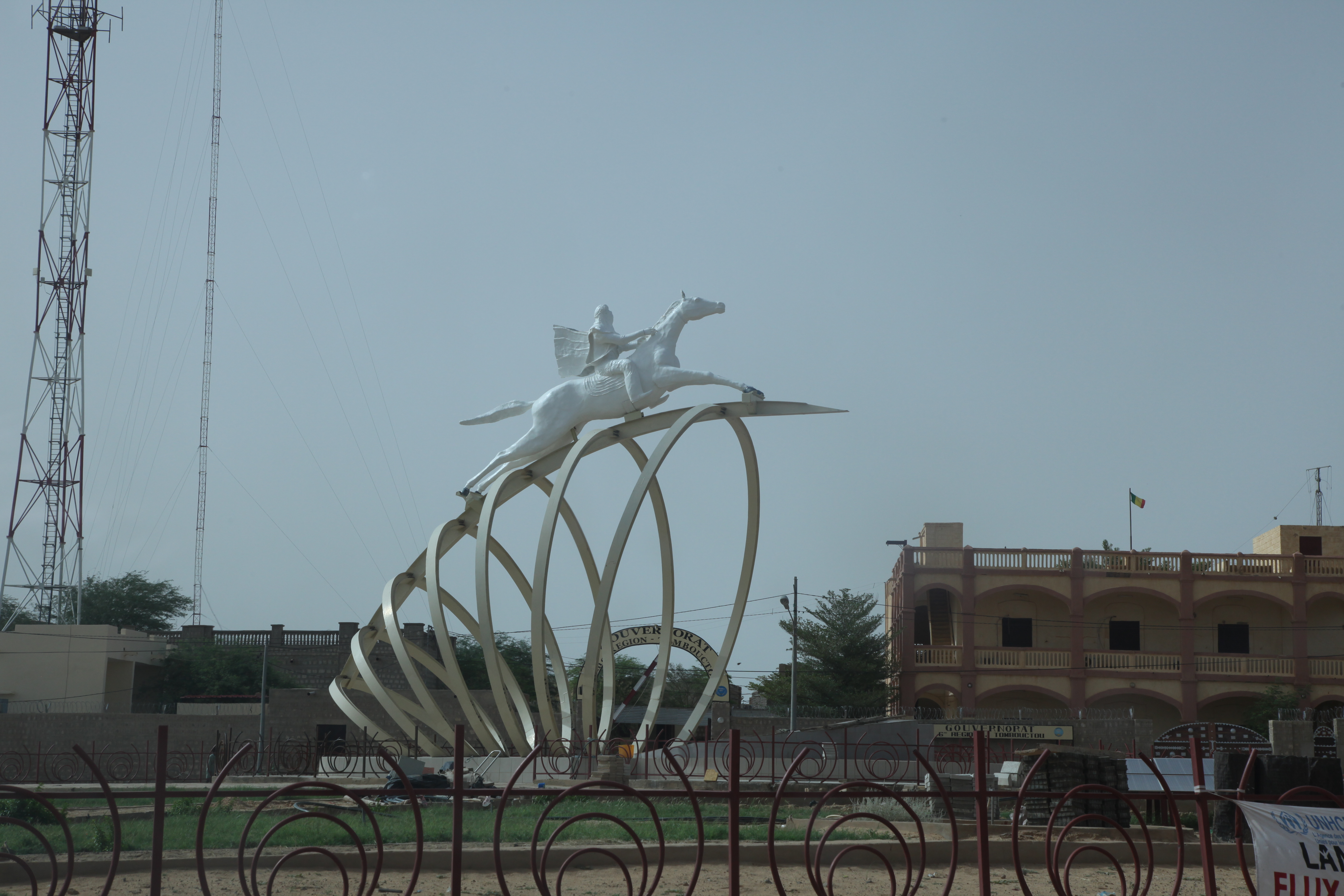 Monument Alfarouk, le cavalier blanc, Tombouctou, août 2019.