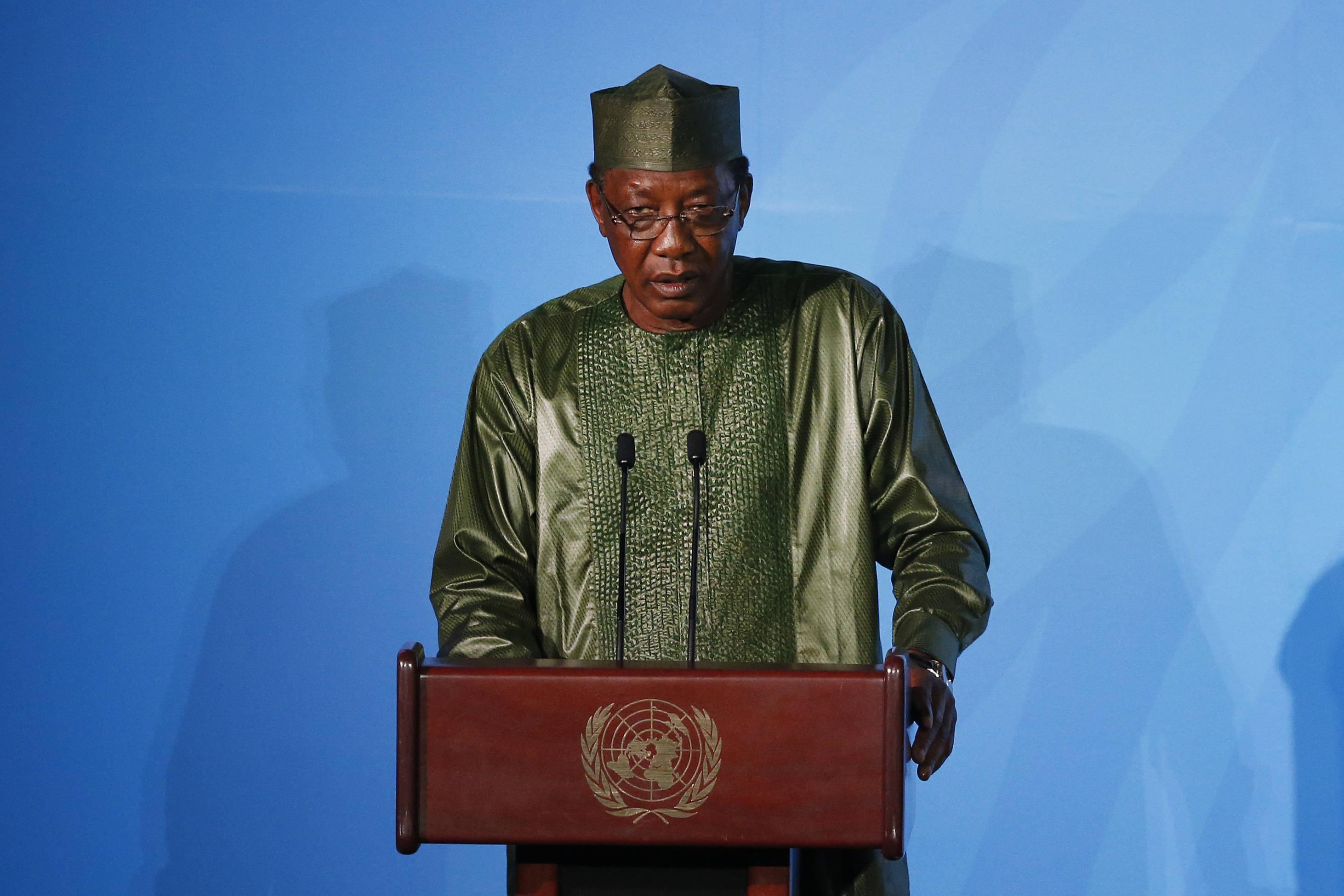 La président Idriss Déby lors du sommet sur le climat à l'ONU, le 23 septembre 2019.