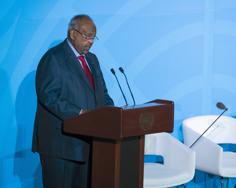 Ismael Omar Guelleh lors du sommet sur le climat de l'ONU, le 23 septembre 2019.