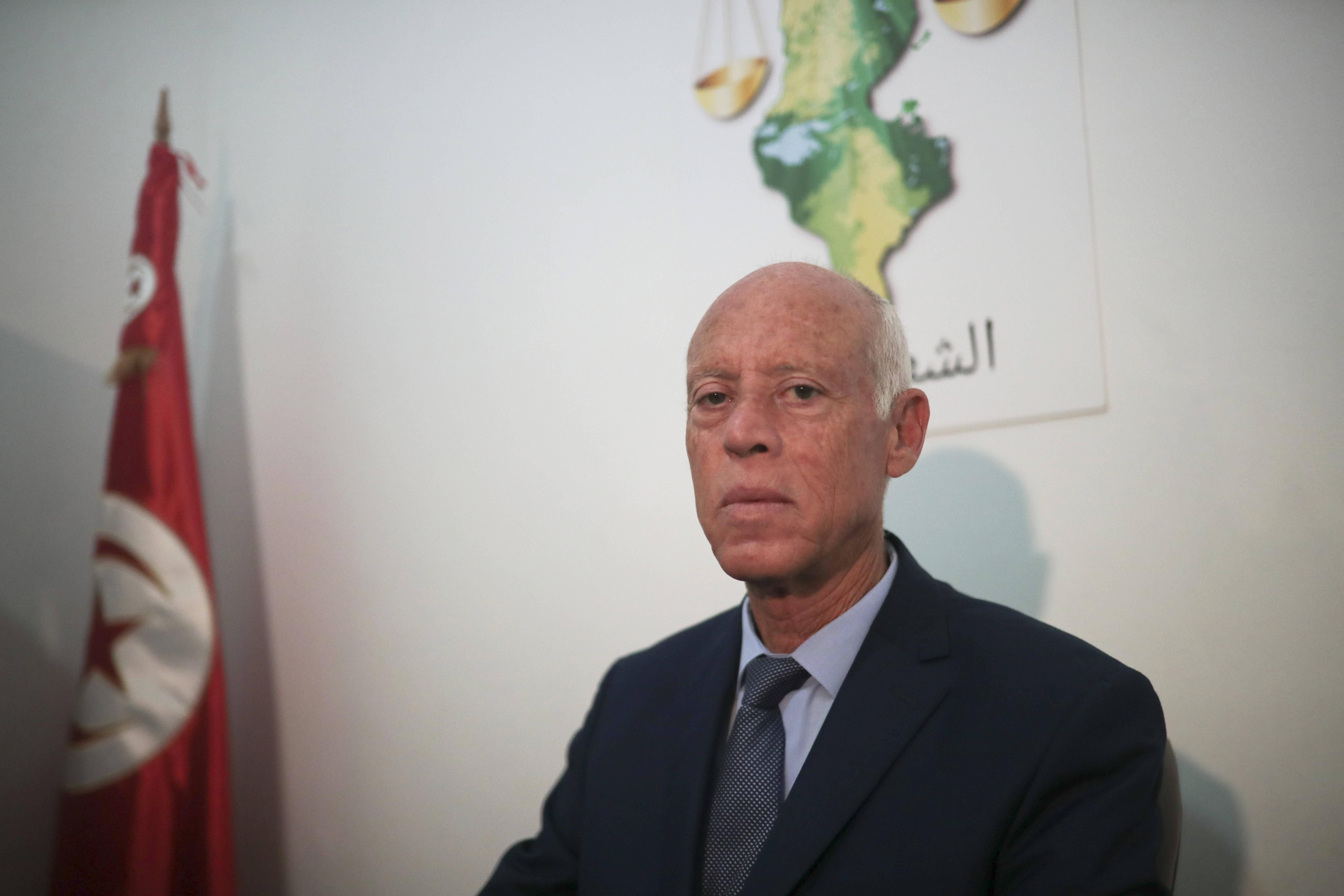 Kaïs Saïed, vainqueur du premier tour de l'élection présidentielle tunisienne, mardi 17 septembre 2019 à Tunis.