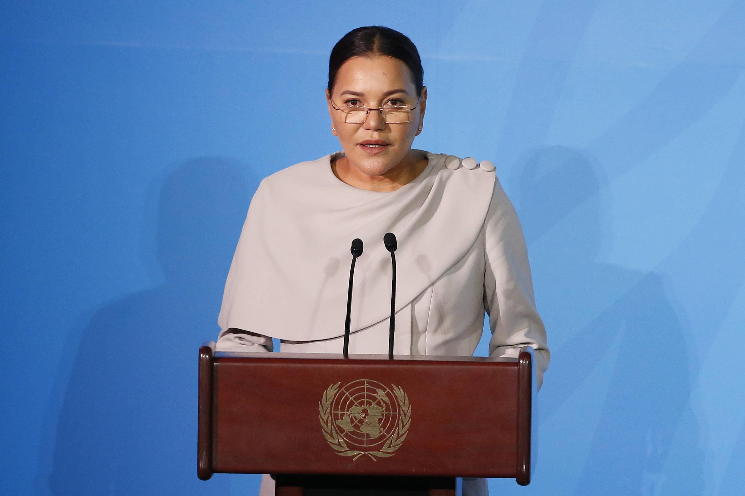 La princesse Lalla Hasnaa lors du sommet sur le climat à l'ONU, le 23 septembre 2019.