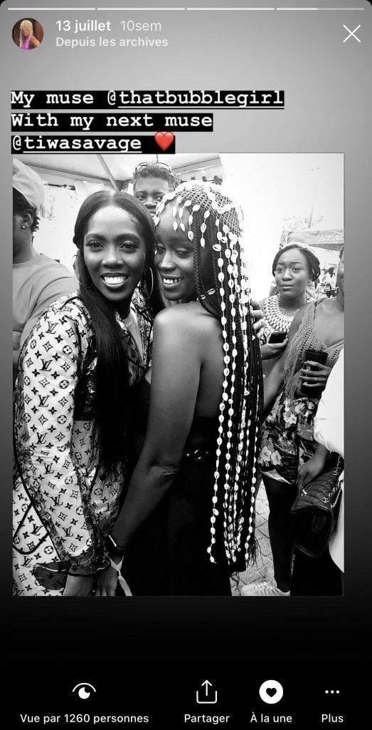 Tiwa Savage et la muse de Lafalaise Dion lors de l'édition 2019 du Festival Afropunk Paris