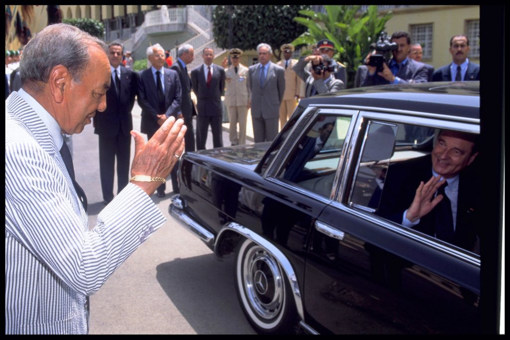 Jacques Chirac et Hassan II (archives).